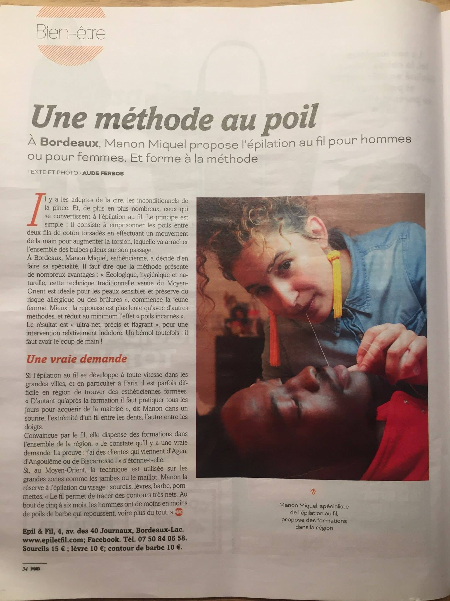 Article MAG - Épil & fil